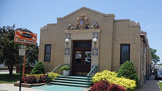 National Register of Historic Places listings in Dickinson County, Kansas - Image: Union Pacific Freight Depot Abilene, KS (14177194819)