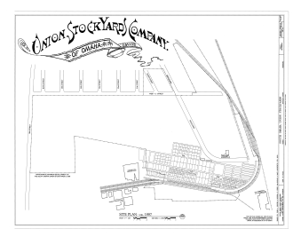 Union Stockyards (Omaha) - Site plan, 1887