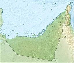 Situo de Abu-Dabio enkadre de Unuiĝintaj Arabaj Emirlandoj