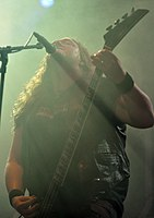 Unleashed, Johnny Hedlund at Party.San Metal Open Air 2013 06.jpg