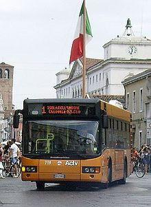 Autobus BredaMenariniBus M240 a pianale ribassato in servizio a Chioggia presso l'ACTV