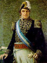Justo José de Urquiza, primer presidente constitucional de Argentina.