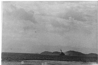 Action of 12 October 1950 - Image: Uss pirate sinking 3