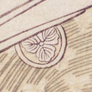 Three Beauties of the Present Day - Image: Utamaro Three Beauties Takashima O Hisa Daimyo oak crest