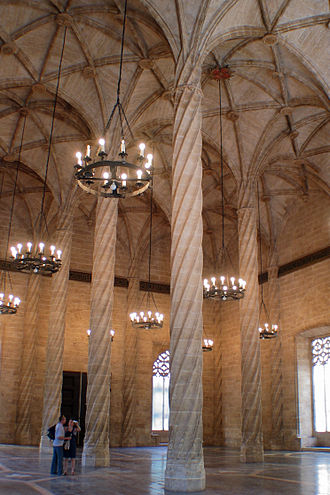 Kingdom of Valencia - The Contract Hall in La Llotja de la Seda