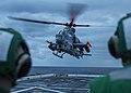 VMM 163 Marines prepare to land an AH-1Z Viper aboard USS John P. Murtha (LPD-26).jpg