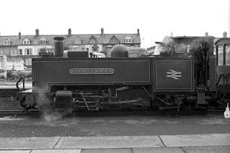 Vale of Rheidol Railway - Prince of Wales with British Rail logo in 1981