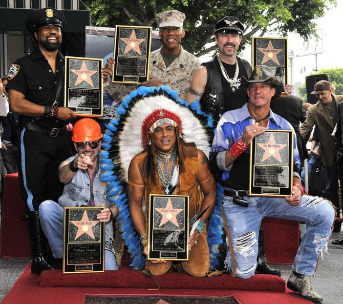 English: The Village People receive their Star...