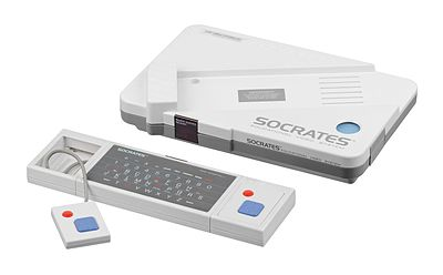 The VTech Socrates is one of many educational video game consoles. VTech-Socrates-Set-FL.jpg