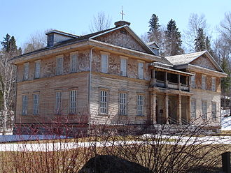 The school and the convent of the Congregation of Our Lady of Good Council, the ghost town of Val-Jalbert, Saguenay-Lac-Saint-Jean Val-Jalbert 2.jpg