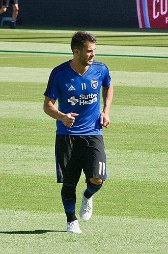 Valeri Qazaishvili - Qazaishvili warming up for San Jose against the Colorado Rapids at Avaya Stadium on 29 July 2017