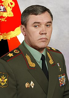 chief of the General Staff of the armed forces of the Russian Federation