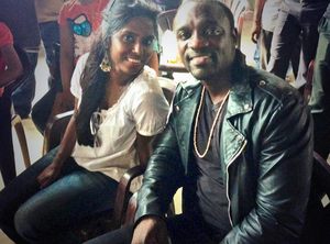 Vasuki Bhaskar - Vasuki Bhaskar with Akon at Simbu's Love anthem shooting spot.