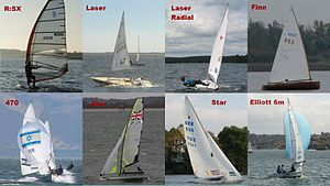 Olympic sailing classes - The eight Olympic classes scheduled in London 2012.