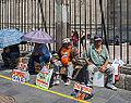 Vendedores en la Catedral Metropolitana, México D.F., México, 2013-10-16, DD 101.JPG