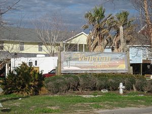 Venetian Isles, New Orleans - Venetian Isles sign on Highway 90