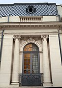 Very beautiful window of the house with no. 3 on Cristofor Columb street in Bucharest (Romania).jpg