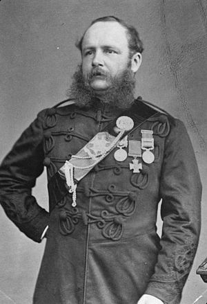 Henry William Pitcher - Henry Pitcher wearing the uniform of a Bengal Staff Corps officer, his Victoria Cross and campaign medals