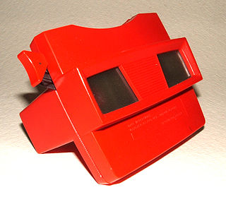 View-Master trademark name of a line of special-format stereoscopes