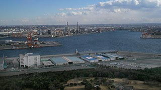 Port of Chiba seaport in Japan, located in Chiba prefecture on the interior of Tokyo Bay
