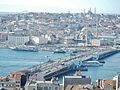 View from Galata Tower, Galata Kulesi to Goilden Horn and Galata Bridge - panoramio.jpg