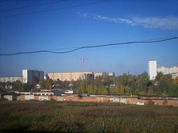 View of Solnechnogorsk, Moscow Oblast, Russia, from a train - 20070930.jpg