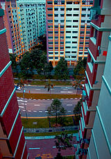 View of Woodlands Avenue 4 between HDB flats.jpg