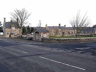 Barrasford village in United Kingdom