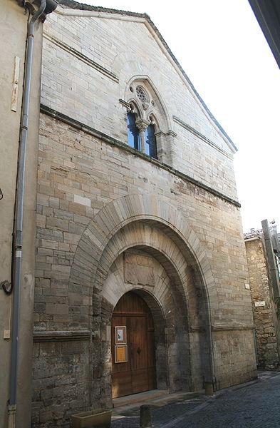 Villemagne-l'Argentière (Hérault) - Portail de l'église Saint-Grégoire.