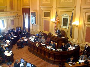 Senate of Virginia - Image: Virginia Senate in Session