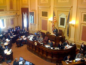 The Senate floor session in the Richmond capit...