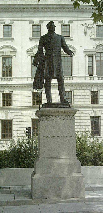 Henry John Temple, 3rd Viscount Palmerston - Statue of Lord Palmerston in Parliament Square, London, by Thomas Woolner.
