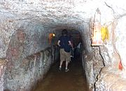 Visitors in Vinh Moc tunnel.JPG
