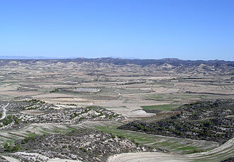 Monegros - Typical landscape of the Monegros near Leciñena.