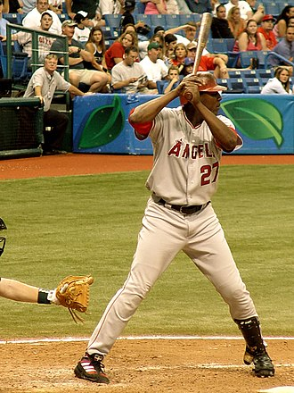 Vladimir Guerrero - Guerrero at bat vs. the Tampa Bay Devil Rays, August 28, 2005.