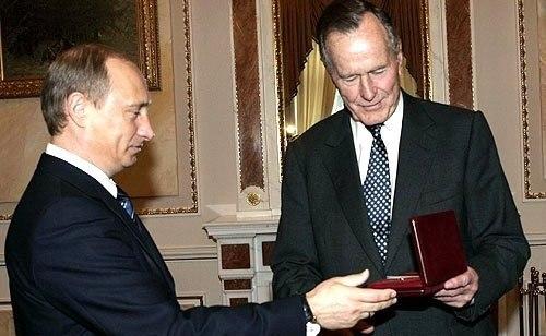 Vladimir Putin met with former U.S. President George Bush Sr