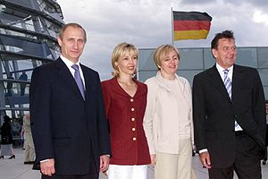 English: BERLIN. President Vladimir Putin and ...
