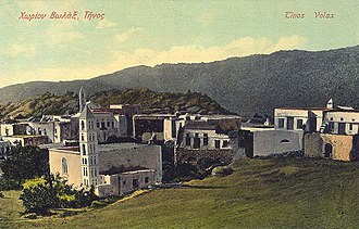 Tinos - Volax village, postcard of 1907