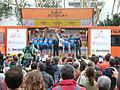 Volta Catalunya 2013. Podi del millor equip (Garmin-Sharp).JPG