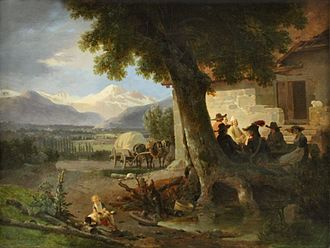 Wolfgang-Adam Töpffer - View of Mont Blanc from Geneva