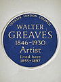 WALTER GREAVES 1846-1930 Artist lived here 1855-1897.jpg