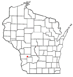 Location of La Farge, Wisconsin