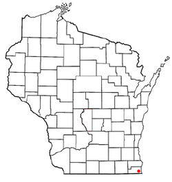 Location of Pleasant Prairie, Wisconsin
