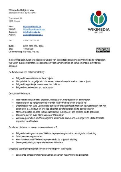 File:WMBE-Hoe Wikimedia Erfgoedinstellingen kan helpen.pdf