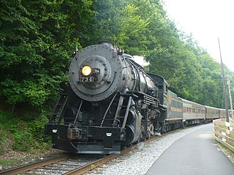 Western Maryland Scenic Railroad - Image: WMSR 734 at the Narrows
