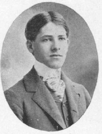 W. S. Borland - W. S. Borland in 1898 edition of Allegheny College's Kaldron yearbook