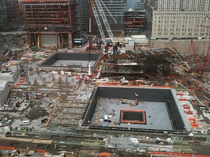 National September 11 Memorial & Museum - Construction of the complex in December 2010