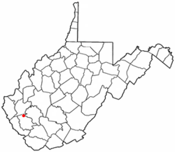 Location of Chapmanville, West Virginia