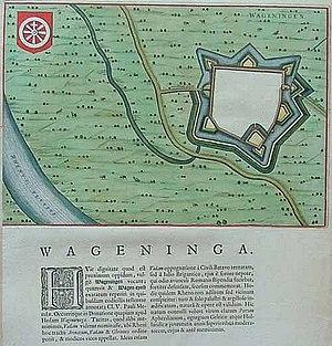 History of Wageningen - Image: Wageningen 1649 Blaeu