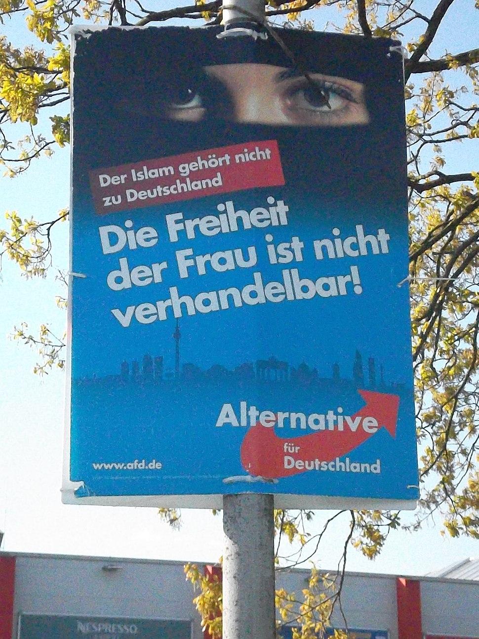 Wahlplakat AfD, Kommunalwahl Schleswig-Holstein 2018
